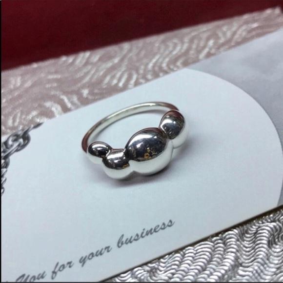 b095aa7b6 Pandora Jewelry | 190703 Retired Liquid Slv 4bbl Ring Sz 65 | Poshmark